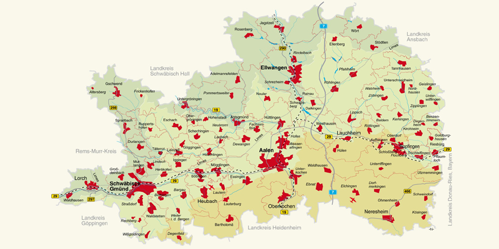 Ostalbkreis Karte.Bildungsregion Ostalb